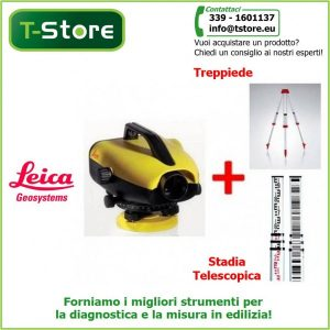 Bundle Leica Sprinter 50 + treppiede e stadia